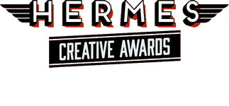 This logo is for the Hermes 2017 creative awards that Caroline Gibson won a gold copywriting award at for the blogging on her Caroline Gibson freelance copywriting website - see Hermes Creative Awards Gold Winner 2017 for details