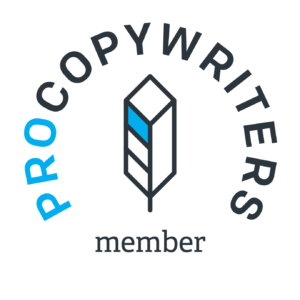 Logo showing Professional Copywriters Network which is a network for anyone who is an experienced freelance copywriter, such as London copywriter Caroline Gibson