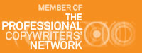Logo showing Professional Copywriters Network which is a network for anyone who is an experienced freelance copywriter