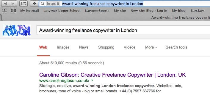 Award winning freelance copywriter in London