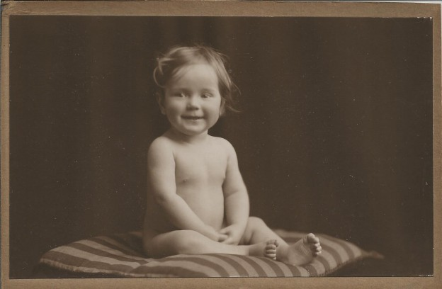 photo of my father as a baby for my post on how to write a eulogy