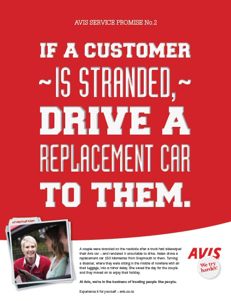 Classic advert for Avis with their famous advertising strapline of We try harder in Caroline Gibson's blog explaining the Difference Between A Headline, Strapline, Tagline And Slogan