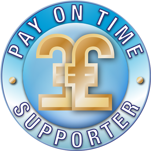 Image of pay-on-time-supporter logo, which is Caroline Gibson as an experienced freelance copywriter
