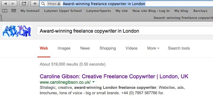 Award winning freelance copywriter in London