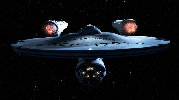This photo shows the Star Ship Enterprise from Star Trek because of Captain Kirk's famous phrase as an example of split infinitives