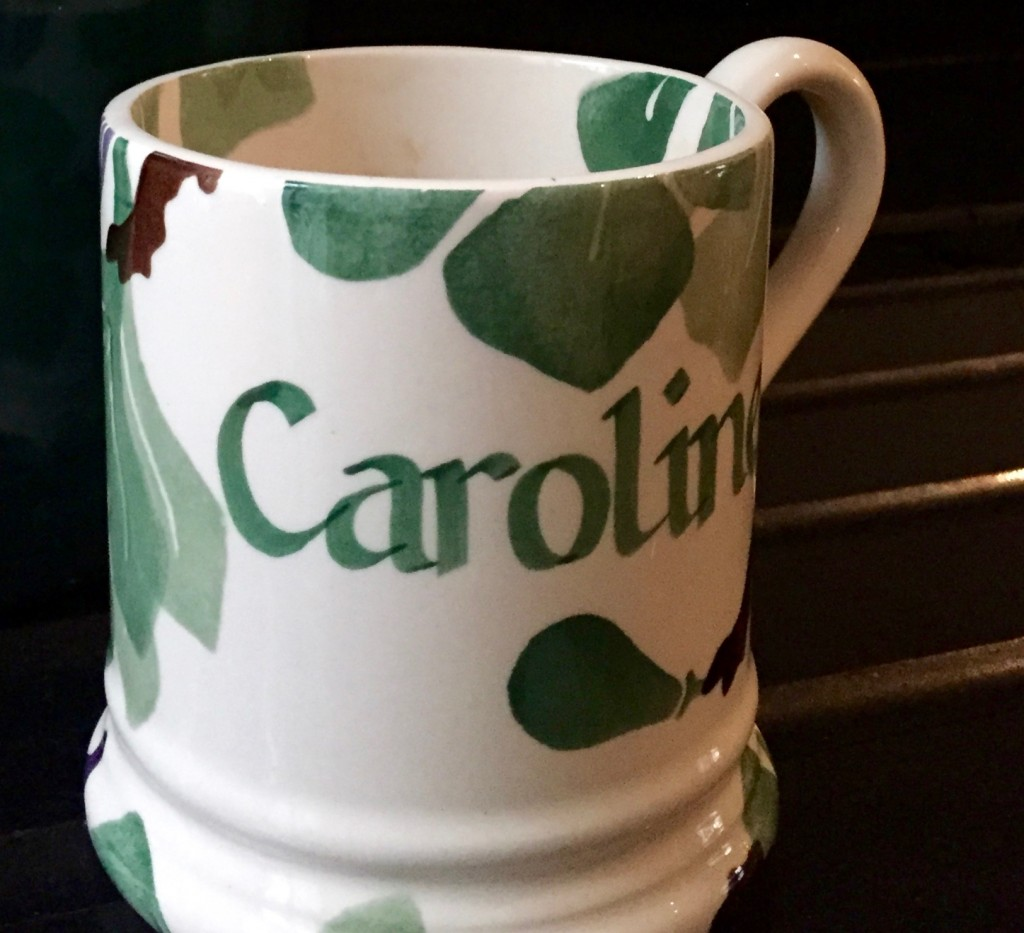 Personalised Emma Bridgewater mug for Caroline Gibson: receiving it was one of my copywriting highlights last year