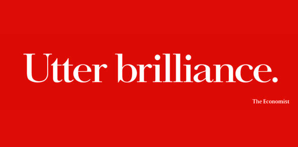 AMV Economist campaign with creative copywriting of Utter Brilliance ad