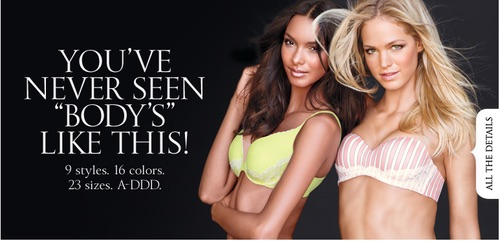 Victoria's Secret poster deliberately using wrong apostrophe and ignoring the rules of grammar